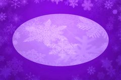 Purple background with white snowflake. Illustration of purple background with white snowflake Royalty Free Stock Photography