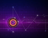 Illustration purple blue abstract technology Royalty Free Stock Image