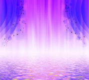 Illustration of a purple curtain. Royalty Free Stock Image