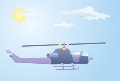 Purple Helicopter Royalty Free Stock Photo