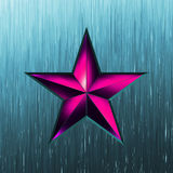 Illustration of a purple star on steel. EPS 8 Royalty Free Stock Image