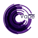 Illustration purple stickers vaping Royalty Free Stock Photo