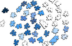 An illustration of a puzzle. Isolated vector illustration