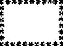 Illustration of puzzle frame. Isolated on white Stock Photography
