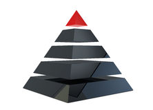 Illustration of a pyramid Royalty Free Stock Photography