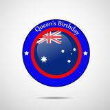 Illustration of Queen`s Birthday Background. Illustration of elements of Queen`s Birthday Background Stock Photos