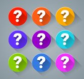 Question mark icons with various colors. Illustration of question mark icons with various colors Stock Photos