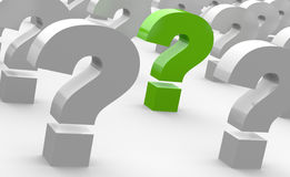 Question marks Royalty Free Stock Photo