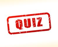 Quiz text buffered Stock Photography