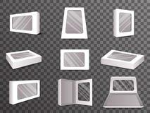 Illustration réaliste établie de papier de vecteur de conception de calibre d'icône de moquerie de Front Top Isometric Open Close Photo libre de droits
