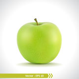 Illustration réaliste d'Apple vert Image stock