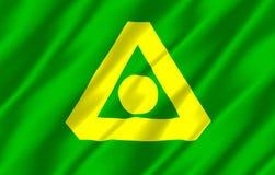 Illustration réaliste de drapeau de Colombie-Britannique de delta illustration de vecteur