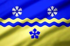 Illustration réaliste de drapeau de Colombie-Britannique de prince Georges illustration stock