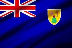 Illustration réaliste de drapeau des Îles Turques et Caïques illustration stock