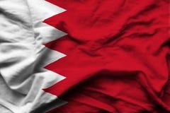 Illustration réaliste de drapeau du Bahrain illustration de vecteur