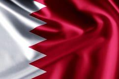 Illustration réaliste de drapeau du Bahrain illustration stock