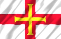 Illustration réaliste de drapeau de Guernesey illustration de vecteur