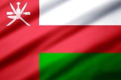Illustration réaliste de drapeau de l'Oman illustration stock