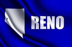 Illustration réaliste de drapeau de Reno illustration stock