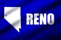 Illustration réaliste de drapeau de Reno illustration de vecteur