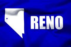 Illustration réaliste de drapeau de Reno illustration libre de droits
