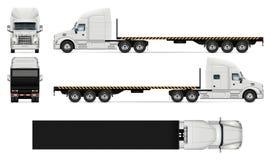 Illustration réaliste de vecteur de camion à plat illustration stock