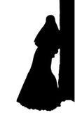 Illustration réaliste de vecteur de silhouette de jeune mariée Images libres de droits