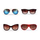 Illustration réaliste de vecteur des lunettes de soleil 3d D'isolement dans le blanc Image libre de droits