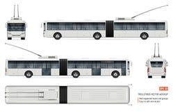 Illustration réaliste de vecteur de trolleybus illustration stock