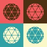 Illustration réglée de conception plate de polyèdre de vecteur Photographie stock libre de droits
