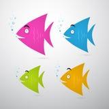 Illustration réglée de poissons colorés Photos libres de droits