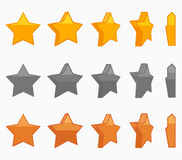 Illustration réglée de vecteur d'animation d'étoile Images stock