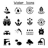 Illustration réglée de vecteur d'icône de l'eau illustration stock