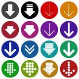 Illustration réglée de vecteur d'icône de signe de flèche Image stock