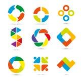 Illustration réglée de vecteur d'Infographic Fichier de vecteur d'ENV 10 Concept d'affaires avec 9 options sur le fond blanc Desc Images stock