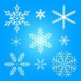 Illustration réglée de vecteur de l'hiver de flocon de neige Photo stock