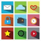 Illustration réglée ENV 10 d'icône de Web Photos libres de droits