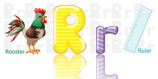 Illustration of R alphabet royalty free illustration