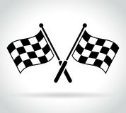 Racing flags icon on white background. Illustration of racing flags icon on white background Royalty Free Stock Photos