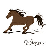 Illustration of racing horse Stock Images