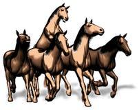 Illustration of racing horses Stock Image