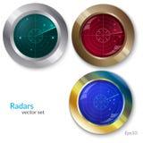 Illustration of RADARs  SET Stock Images