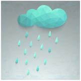 Illustration of rain and cloud. Beautiful stylized 3d illustration with rain and cloud Royalty Free Stock Images