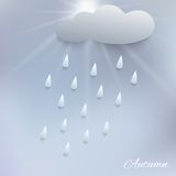 Illustration of rain and cloud. Beautiful stylized 3d illustration of rain and cloud Royalty Free Stock Photography