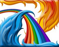 Illustration of  rainbow Stock Image