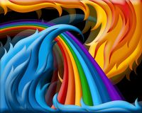 Illustration of  rainbow Royalty Free Stock Photography