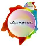Illustration rainbow frame. Background card Stock Photos