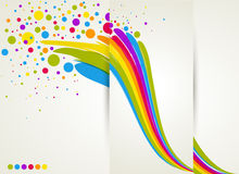 Rainbow splash design with circles Stock Images