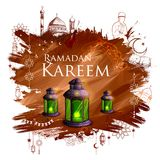Ramadan Kareem Generous Ramadan greetings for Islam religious festival Eid with freehand sketch Mecca building. Illustration of Ramadan Kareem Generous Ramadan Stock Image