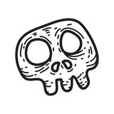 Illustration rampante de vecteur de crâne de substance de Halloween Photos stock
